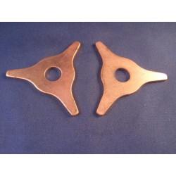 Lijmadapter 8mm blauw dimple (5st)