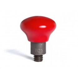 Lijmadapter 17x35mm blauw dimple (5st)
