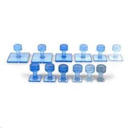 Clear Blue tab smooth square variatiepak (12st)