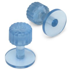 Clear Blue ICE tab Finish 17mm (5st)
