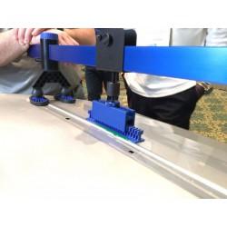 """Manometer werkdruk onderaansluiting ¼"""" Argon/CO² 0-28/30 l/min 63mm"""