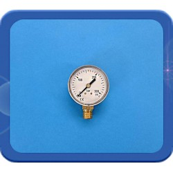 "Manometer werkdruk 315 bar onderaansluiting ¼"" 0-200/315 bar 50mm"