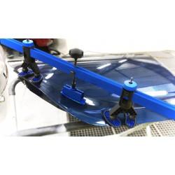 "Manometer werkdruk onderaansluiting ¼"" Zuurstof 0-20/40 bar 63mm"