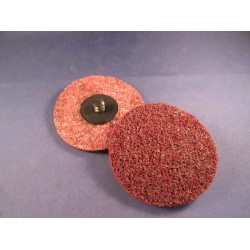 Minidisc vlies 76mm middel Carloc (rood)
