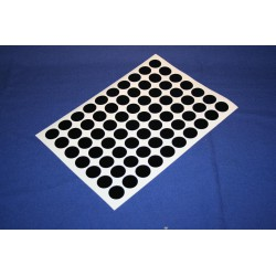 Deurmaskeerstickervel A4 zwart glad 25mm (70st)