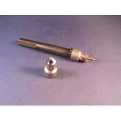 Deurmaskeerstickervel A4 zwart structuur 20mm (108st)