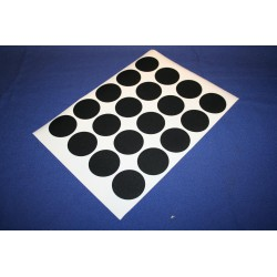 Deurmaskeerstickervel A4 zwart structuur 50mm (20st)