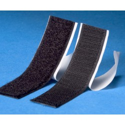 Klitteband zelfklevend haak+lus zwart (2x2,5m)