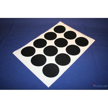Deurmaskeerstickervel A4 transparant glad 30mm (54st)