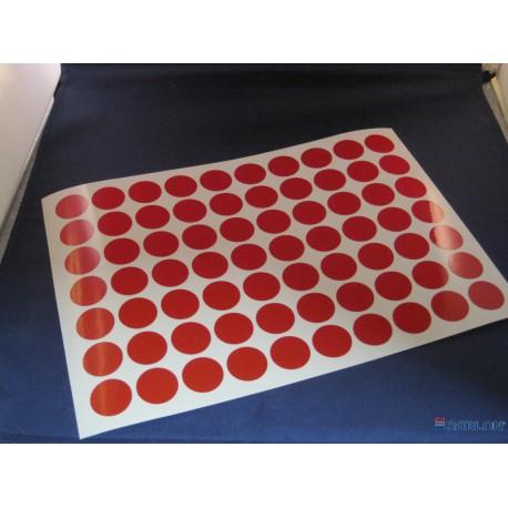 Deurmaskeerstickervel A4 zwart structuur 30mm (54st)