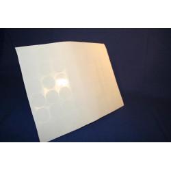Deurmaskeerstickervel A4 zwart structuur 60mm (12st)