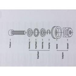 Veiligheidsdraailuchtkoppeling SV/DN6 8mm slangpilaar
