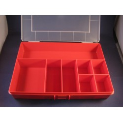 Assortimentsbox PP rood 8-vaks 250x170x46mm