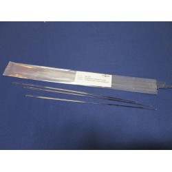 Lasdraad kunststof PC transparant 4mm 30cm staaf (15st)