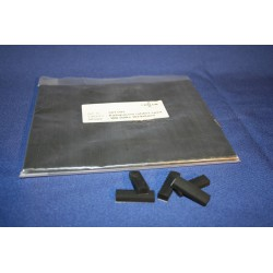 Ruitspacers rubber zelfklevend zwart 30x9x6mm (100st)