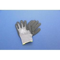 Lashandschoen rood splitleder gevoerd