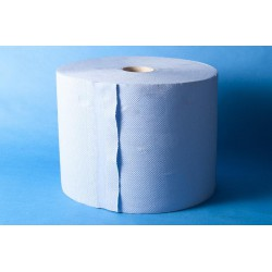 Poetspapier Sweeper maxirol 3-laags blauw 24cmx190m (2st)